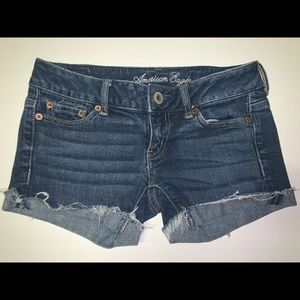 American Eagle Outfitters Shorts - American Eagle Distressed Denim Shorts Size 00